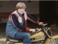 Johnny Gosch on his dirt bike.