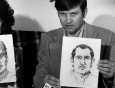 Noreen and John Gosch hold sketches in November 1982 of a man believed to be invovled in the disappearance of their son.