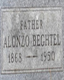 Alonzo Beghtel headstone