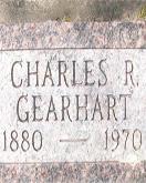 Charles Gearhart gravestone