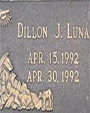 Dillon Luna gravestone