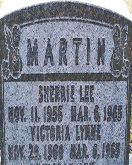 Martin sisters' headstone