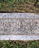 Berta Mae Foy headstone
