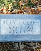 Billy Lee Clark gravestone