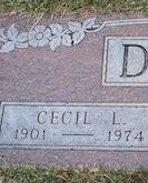 Cecil DuBois gravestone