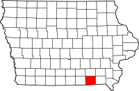 Davis County in Iowa