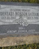 Denease Lathan gravestone