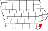Des Moines County in Iowa