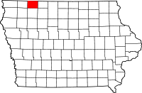 Dickinson County in Iowa