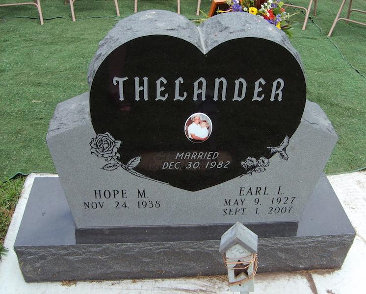 Earl Thelander gravestone