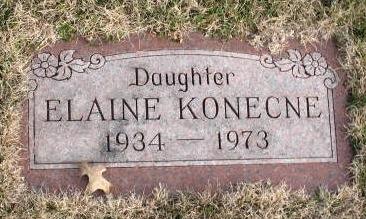 Doris Elaine Konecne gravestone
