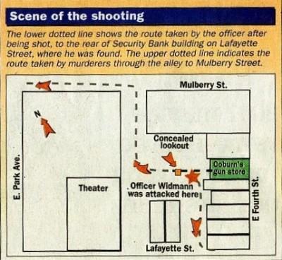 Fred Widmann crime scene location