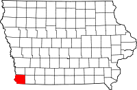Fremont County in Iowa