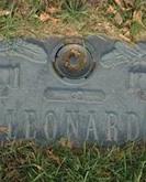 George Leonard gravestone