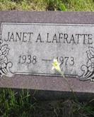 Janet LaFratte gravestone