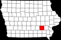 Keokuk County in Iowa