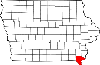 Lee County in Iowa