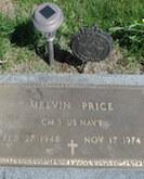 Melvin Price gravestone