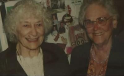 Hazel Reimann and sister Helen Burklund