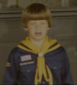Johnny Gosch as a young Boy Scout