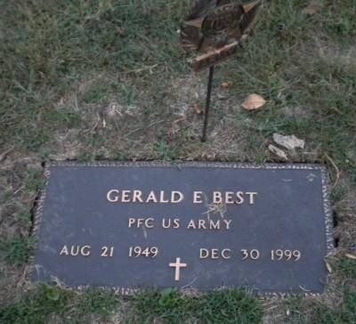 Gerald Best gravestone