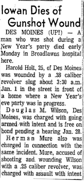 Courtesy Cedar Rapids Gazette, Jan. 17, 1966 (Click to read full story)