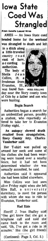 Courtesy The Gazette, Jan. 29, 1968