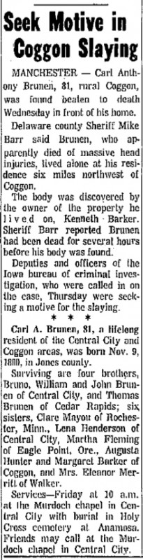 Courtesy Cedar Rapids Gazette, Nov. 9, 1972