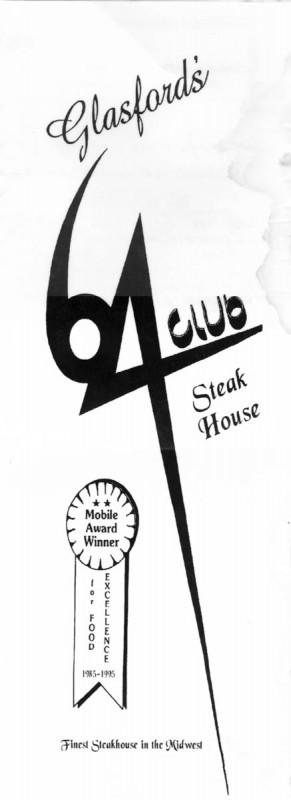 Club 64 menu