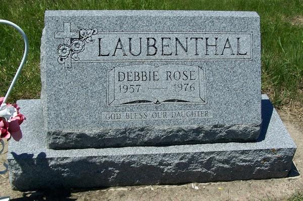 Debbie Laubenthal gravestone