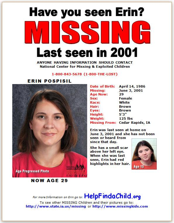 Erin Kay Pospisil Iowa Cold Cases