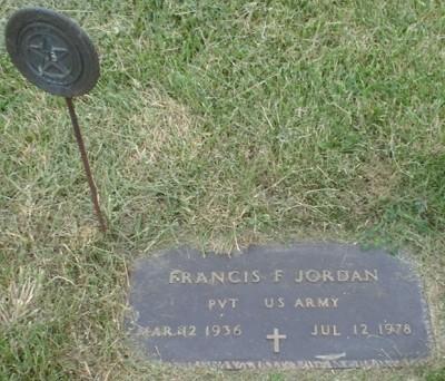 Francis Jordon headstone
