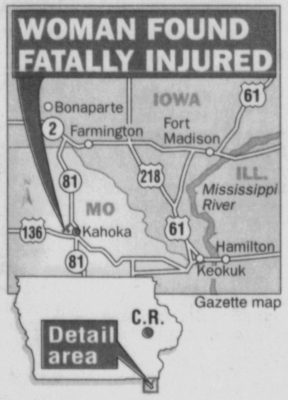 Gazette map of Laura Van Wyhe homicide