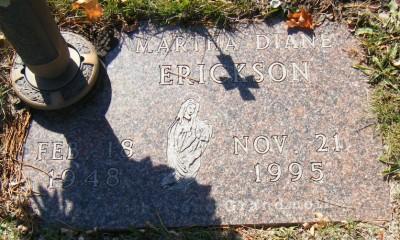 Martha Erickson gravestone