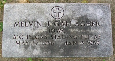 Melvin Gallagher headstone