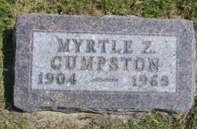 Myrtle Cumpston gravestone