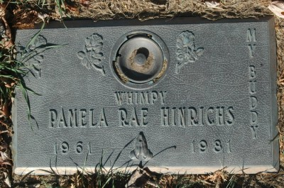 Pam Hinrichs' gravestone