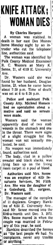 Courtesy Des Moines Register, Oct. 23, 1973