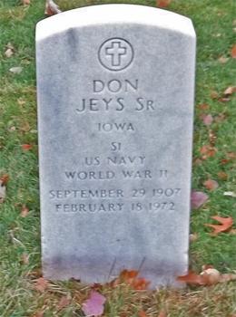 Don Jeys gravestone