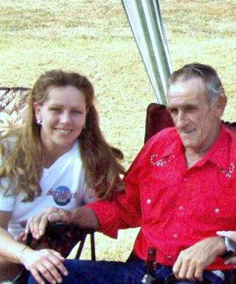 Bill Douglas with daughter Betsy Showers