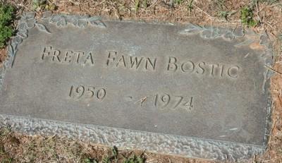 Freta Bostic's gravestone