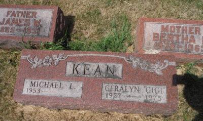 "Geralyn ""Gigi"" Kean gravestone"