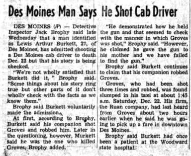 Courtesy The Daily Iowan, Jan. 3, 1962