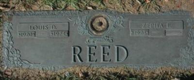 Louis Reed gravestone