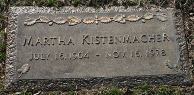 Martha Kistenmacher headstone