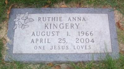 Ruth Kinger Pohlmeier's gravestone