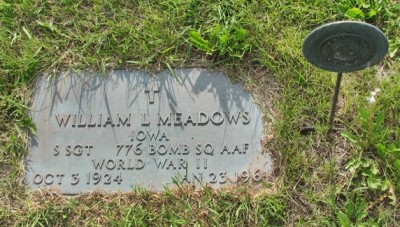 William Meadows headstone
