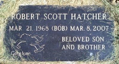 Bob Hatcher was laid to rest at the Zion Congregational Cemetery. (Courtesy billiongraves.com)
