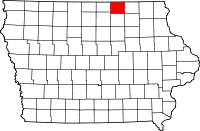 Mitchell County in Iowa