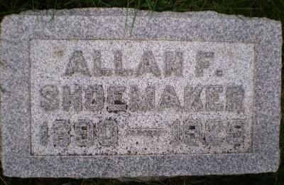 Allan Shoemaker headstone